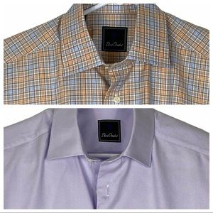 2 ExcCond David Donahue Long Sleeve Dress Shirts